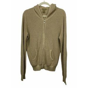 PECK & PECK Weekend Zip Hoodie Sweater Jacket Sz L